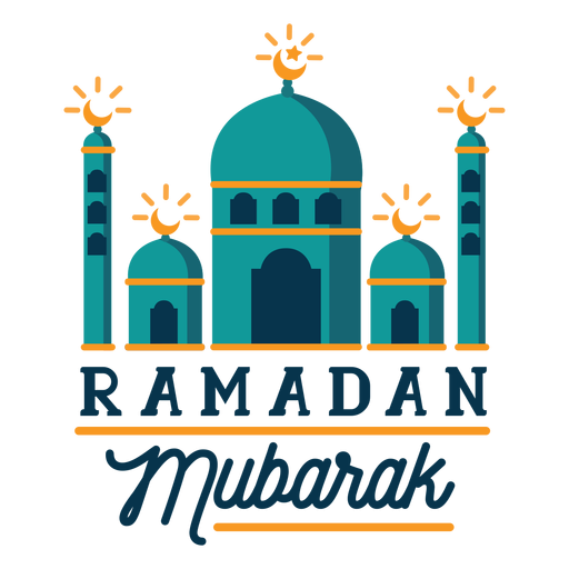 Ramadan mubarak crescent mosque half moon sticker badge Transparent PNG
