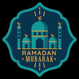 Ramadán mubarak crescent mezquita estrella pegatina insignia