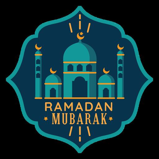 Ramadan Mubarak Crescent Mosque Star Sticker Badge Transparent Png Svg Vector File