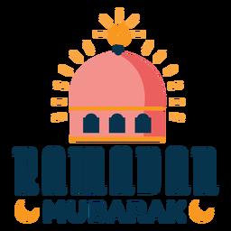 Crachá de etiqueta do Ramadã mubarak crescente mesquita