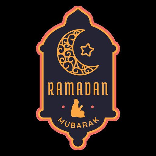 Ramadán mubarak media luna estrella media luna pegatina Transparent PNG