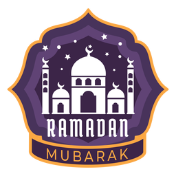 Ramadan mubarak half moon crescent mosque sticker badge