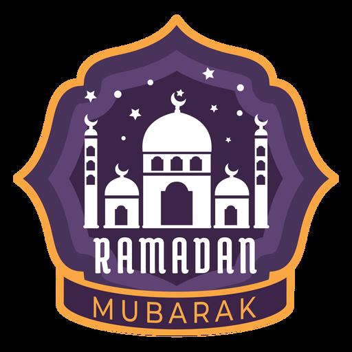 Ramadan mubarak half moon crescent mosque sticker badge Transparent PNG