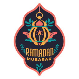 Ramadan mubarak lamp light candle badge sticker
