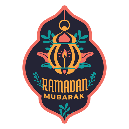 Ramadan mubarak lamp light candle badge sticker Transparent PNG