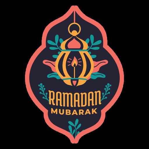 Ramadan Mubarak Lampe Licht Kerze Abzeichen Aufkleber Transparent PNG