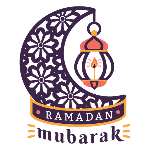 Ramadan mubarak lamp light candle crescent badge sticker Transparent PNG