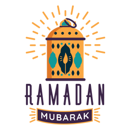 Ramadan mubarak lantern candle lamp light badge sticker