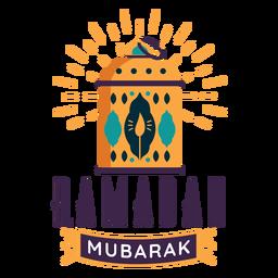 Ramadan mubarak lanterna vela lâmpada luz distintivo adesivo