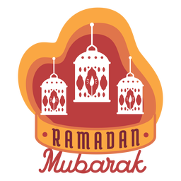 Ramadan mubarak lantern lamp candle light badge sticker