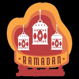 Ramadan mubarak lanterna lâmpada vela luz distintivo adesivo