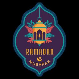 Ramadan mubarak linterna lámpara vela luz pegatina insignia