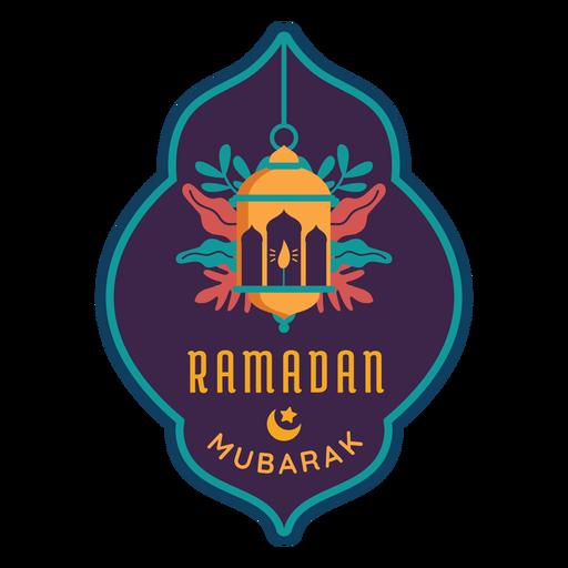 Ramadan mubarak lantern lamp candle light sticker badge Transparent PNG