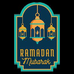 Ramadan Mubarak Laterne Licht Lampe Kerze Aufkleber Abzeichen