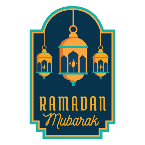 Ramadan mubarak lantern light lamp candle sticker badge Transparent PNG