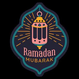 Ramadán Mubarak insignia de la lámpara de luz