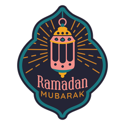 Ramadan mubarak light lamp badge sticker