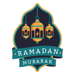 Ramadan mubarak light lamp candle badge sticker
