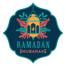 Ramadan mubarak light lantern lamp candle sticker badge