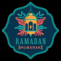 Ramadán mubarak luz linterna lámpara vela pegatina insignia