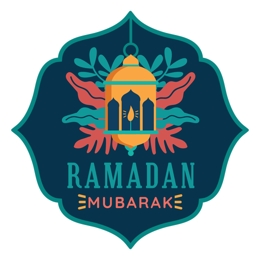Ramadan mubarak light lantern lamp candle sticker badge Transparent PNG