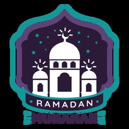 Ramadan mubarak mosque crescent badge sticker