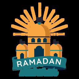 Adesivo de distintivo de meia lua do Ramadã mubarak mesquita