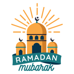 Ramadán Mubarak mezquita media luna insignia