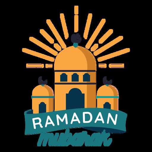Ramadan Mubarak Mosque Crescent Half Moon Badge Sticker Transparent Png Svg Vector File