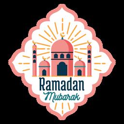 Ramadán Mubarak mezquita media luna estrella estrella insignia