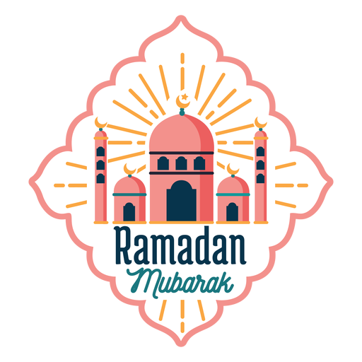 Ramadan mubarak mosque crescent half moon star badge sticker Transparent PNG