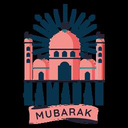 Adesivo de distintivo de meia lua de estrela crescente de Ramadan mubarak