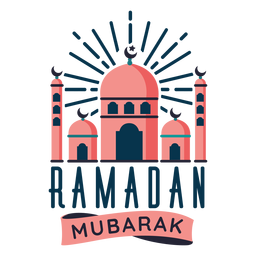 Ramadán Mubarak Mezquita Media Luna Estrella Media Luna