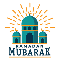Ramadan mubarak mosque crescent sticker badge