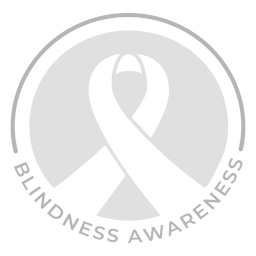 Ribbon blindness awareness badge sticker