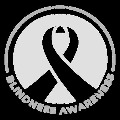 Ribbon blindness awareness badge sticker Transparent PNG