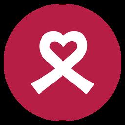 Corazón de cinta adhesivo etiqueta salud