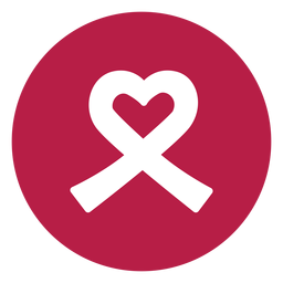 Ribbon heart badge sticker health