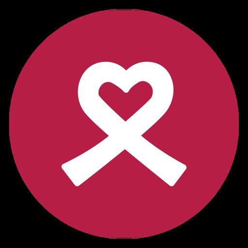 Ribbon heart badge sticker health Transparent PNG