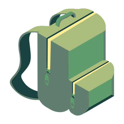 Rucksack knapsack bag satchel flat Transparent PNG