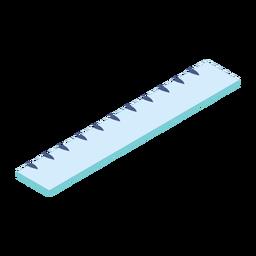 Ruler centimeter flat
