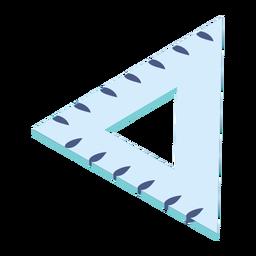 Ruler triangle centimeter flat