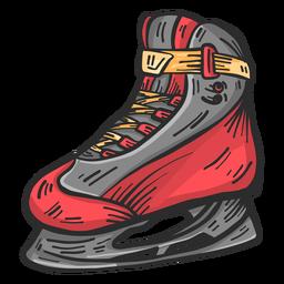 Dibujo de color de encaje de cuchilla de skate