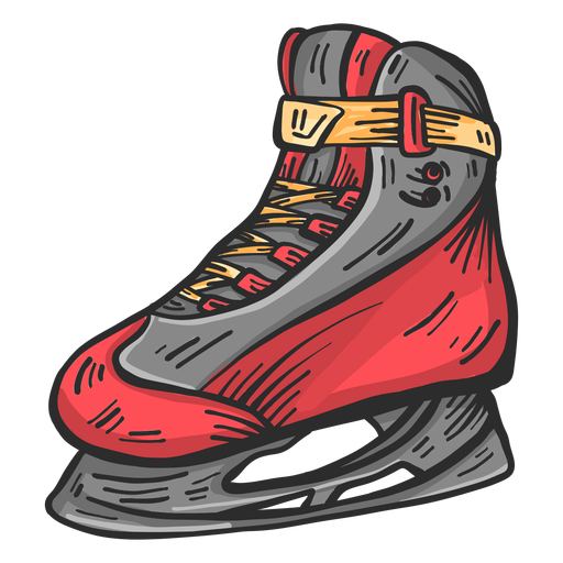Skate blade lace colored sketch