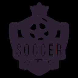 Adesivo de distintivo de coroa de bola de clube de futebol