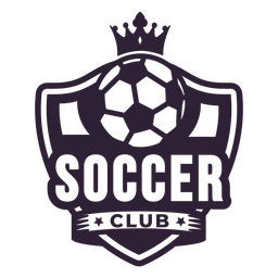 Soccer club ball crown badge sticker