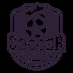 Insignia de arranque de pelota del equipo de fútbol