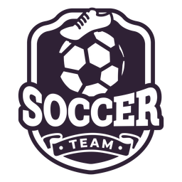 Soccer team ball boot badge sticker