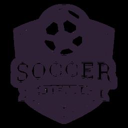 Etiqueta do emblema estrela de bola de time de futebol
