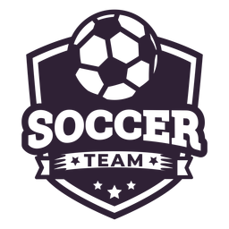 Soccer team ball star badge sticker
